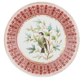 Sixteen piece antique dessert service by Royal Crown Derby porcelain