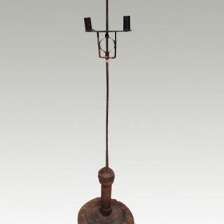 Welsh iron candleholder.