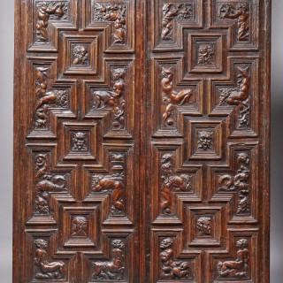 Wonderful Renaissance Panels Carved with Mythological Scenes , italy, 16th Century