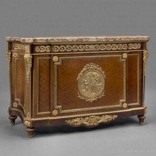 Louis XVI Style Gilt-Bronze Mounted Parquetry Commode