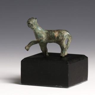 Roman Bronze Panther Statuette