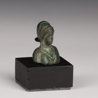 Roman Bronze Applique of a Lady