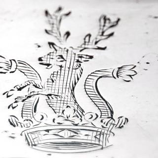 George III Silver Wine Coasters
