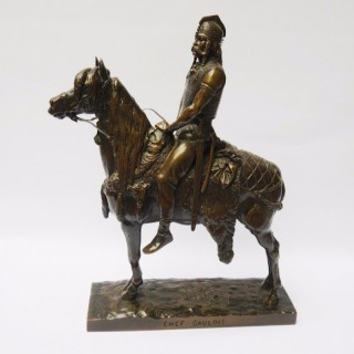 Antique Bronze Horse and Rider – Chef Gaulois by Fremiet