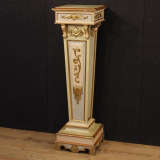 20th Century Italian Lacquered And Golden Column