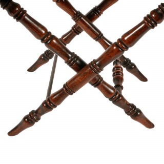 Two Mid 19th Century Rosewood Tray Stands