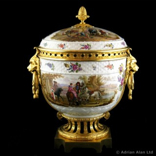 Gilt-Bronze Mounted Porcelain Pot-pourri Vase and Cover