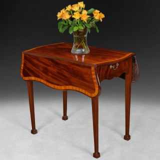 George III Period Mahogany Butterfly Pembroke Table