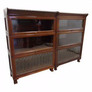 Pair of Scottish Mahogany Sectional Bookcases