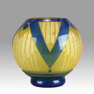 Art Deco Vase by Muller Frères
