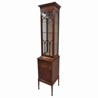 Sheraton Style Satinwood Display Cabinet