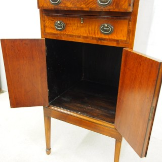 Sheraton Style Satinwood Display Cabinet