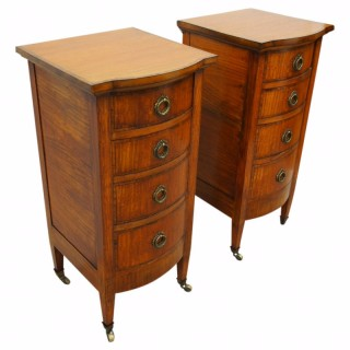 Pair of Inlaid Satinwood Chest of Drawers