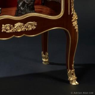 Gilt-Bronze Mounted Mahogany Vitrine