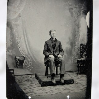 'Remember Us?'; A Remarkable & Vast Collection Of 150 19thC Tinplate Portrait Photographs c.1850-1900