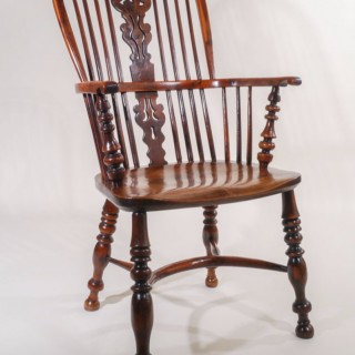Excellent 19th Century High Back Windsor Armchair