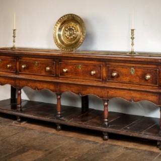 A Fine Montgomeryshire Oak Open Dresser Base