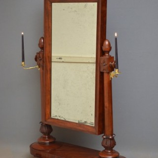 William IV Mahogany Cheval Mirror