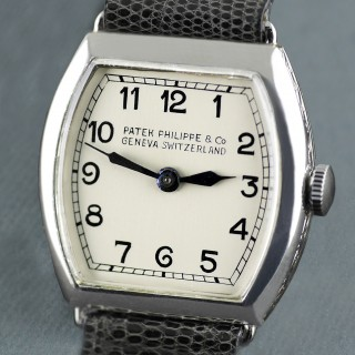 Patek Philippe Platinum Art Deco Wristwatch, 1938
