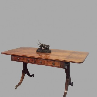 Geo III rosewood sofa table.