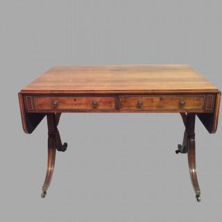 Geo III rosewood sofa table.