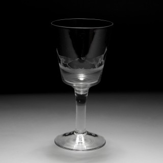 A set of four cock fighting glasses
