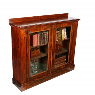 Rosewood Side Cabinet Bookcase