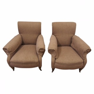 Pair of Edwardian Easy Chairs