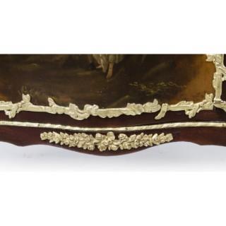 Antique French Vernis Martin mahogany Cabinet Vitrine c.1880