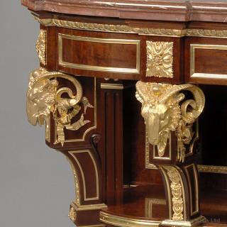 Napoleon III Buffet With a Rouge Marble Top