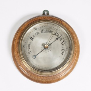 Oak Aneriod Barometer