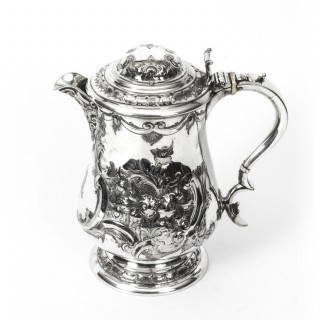 Antique English Silver Plate Lidded Ewer Lipped Tankard Martin Hall & Co C1860