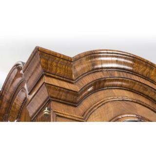 Antique Queen Anne Double Dome Burr Walnut Bureau Bookcase C1720