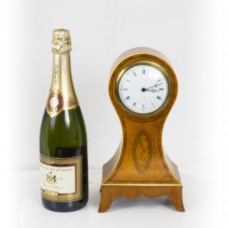 Antique Edwardian Inlaid Satinwood Mantle Clock c.1900