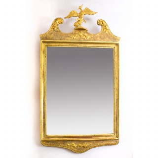 Antique George II Style Parcel Gilt Wall Mirror Circa 1860 103 cm x 56 cm