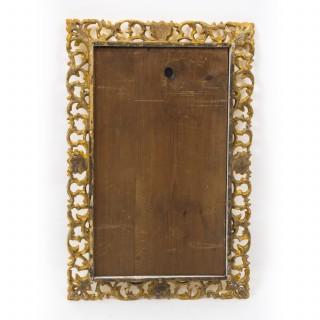Antique Italian Gilded Hand Carved Florentine Mirror c.1880 - 60 x 40cm