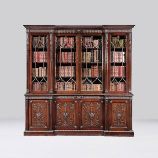 Library Bookcase in the Manner of the Adam Brothers