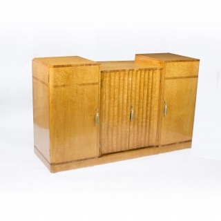 Antique Art Deco Birdseye Maple Sideboard Harry & Lou Epstein c.1930
