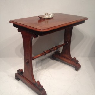 William IV mahogany  side table.