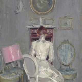Madame Helleu dans l'atelier de son mari