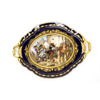 Antique French Sevres Porcelain Tray signed Moreaux C1860