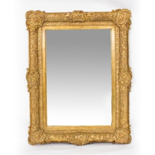 Antique Victorian Giltwood Mirror c.1860 75x95cm