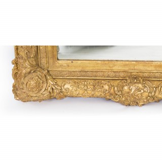 Antique Victorian Giltwood Mirror c.1860 75x95cm