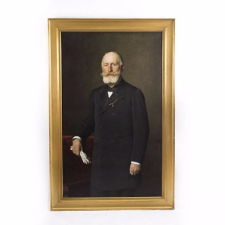 Antique Victorian Portrait George Everitt of Knowle Hall 1893