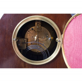 Antique French marquetry Mahogany Mantle Clock c.1900