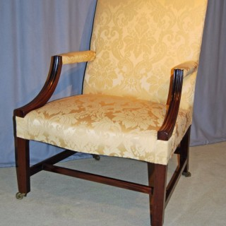 Chippendale period Mahogany Gainsborough Chair