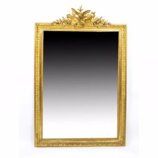 Antique French Giltwood Overmantel Mirror c.1860 - 157 x 98 cm