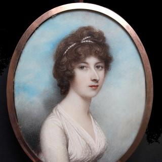 A fine portrait miniature  of a young Lady