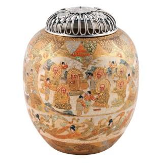 Japanese Satsuma Pottery Koro