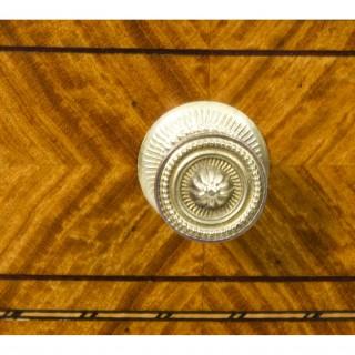 Antique Victorian Satinwood Bowfront Bedside Cabinet c.1880